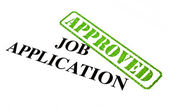 Job Application APPROVED — Stock Photo