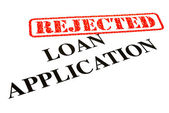 Loan Application REJECTED — Stock Photo