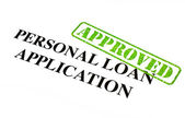 Personal Loan Application APPROVED — Stock Photo