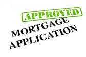 Mortgage Application APPROVED — Stock Photo