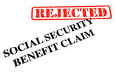 Social Security Benefit Claim REJECTED — Stock Photo