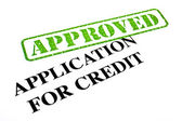 Application For Credit APPROVED — Stock Photo