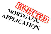 Mortgage Application REJECTED — Stock Photo