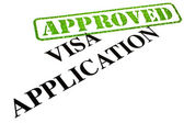 Visa Application APPROVED — Stock Photo