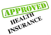 Health Insurance APPROVED — Stock Photo