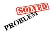 Problemet löst. — Stockfoto