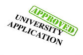 University Application APPROVED — Zdjęcie stockowe