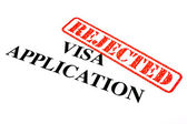 Visa Application REJECTED — Stock Photo