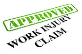 Work Injury Claim APPROVED — Stock Photo
