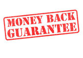 MONEY BACK GUARANTEE Stamp — Stock Photo