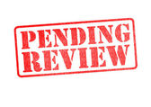 PENDING REVIEW Stamp — Stock Photo