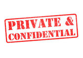 PRIVATE &CONFIDENTIAL Stamp — Stock Photo
