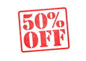 50 Percent OFF Rubber Stamp — Stock Photo