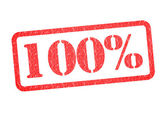 100 Percent Rubber Stamp — Stock Photo