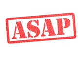 ASAP Rubber Stamp — Stock Photo