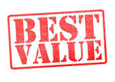 BEST VALUE Rubber Stamp — Stock Photo