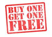 Compre uno y llévese uno gratis sello de goma — Foto de Stock