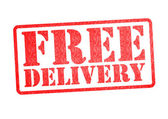 FREE DELIVERY Rubber Stamp — Stock Photo