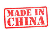 MADE IN CHINA Rubber Stamp — Stock Photo
