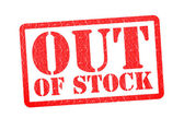 OUT OF STOCK Rubber Stamp — Stock Photo