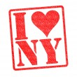Stock Photo: I LOVE NY Rubber Stamp