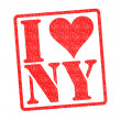 I LOVE NY Rubber Stamp - Stock Photo