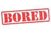 BORED Rubber Stamp — Stock Photo