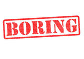 BORING Rubber Stamp — Stock Photo