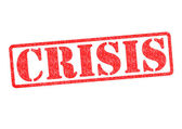 CRISIS Rubber Stamp — Stock Photo