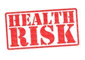 Hälsa risk gummistämpel — Stockfoto