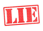 LIE Rubber Stamp — Stock Photo