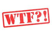 Wtf?! timbro di gomma — Foto Stock