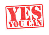 YES YOU CAN Rubber Stamp — Stock Photo