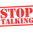 stop talking — Stock Photo