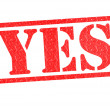 YES Rubber Stamp — Stock Photo #23109076