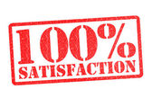 100 Percent SATISFACTION — Stock Photo