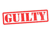 GUILTY — Stock Photo