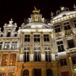 Guildhalls in the Grand Place in Brussels. — Stock Photo