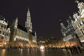Panoramic View of Grand Place in Brussels — Stock Photo