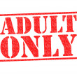 ADULT ONLY Rubber Stamp - Stock Photo