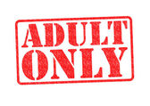 ADULT ONLY Rubber Stamp — Stock Photo