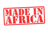 MADE IN AFRICA Rubber Stamp — Stock Photo