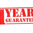1 YEAR GUARANTEE — Stock Photo