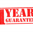 1 YEAR GUARANTEE - Stock Photo