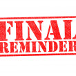 FINAL REMINDER Rubber Stamp — Stock Photo
