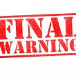 FINAL WARNING Rubber Stamp - Stock Photo