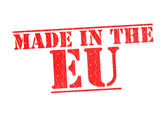 MADE IN THE EU Rubber Stamp — Stock Photo