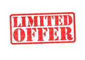 LIMITED OFFER Rubber Stamp — Stock Photo