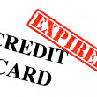 Credit Card EXPIRED — Stock Photo