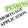 Stock Photo: Mortgage Application PENDING